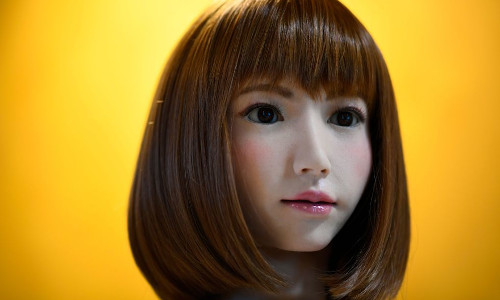 Erica, the AI robot movie star.